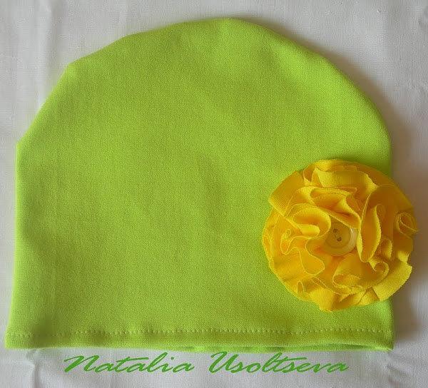 38Детские шапочки с цветами своими руками