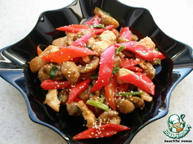 Горячие салаты из курицы