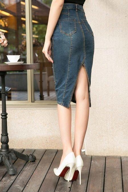 Джинсовая юбка сшить из старых джинсов 52
