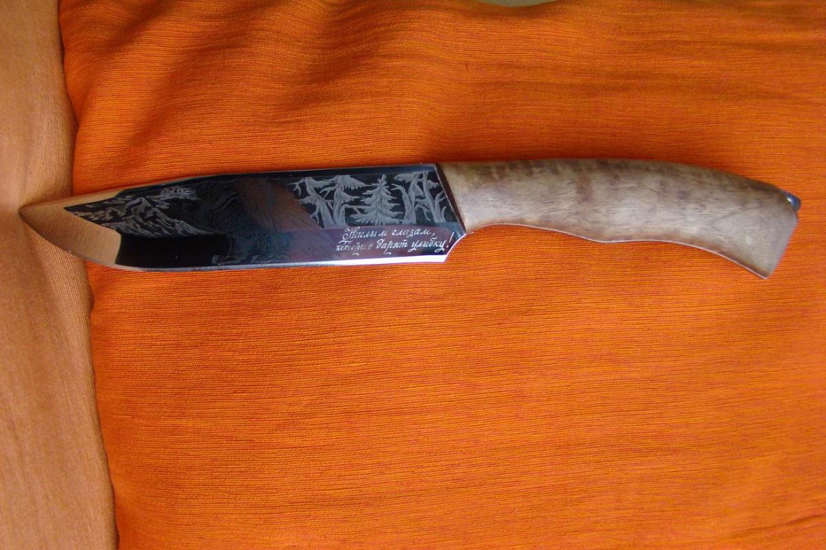 Как сделать рисунок для ножа 905
