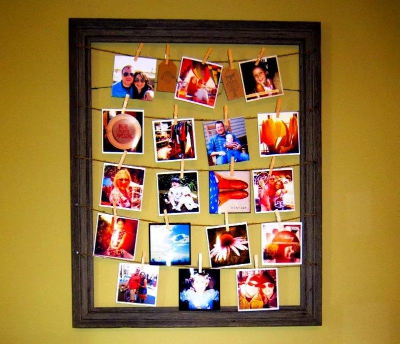 Рамки для фотографии своими руками на стену