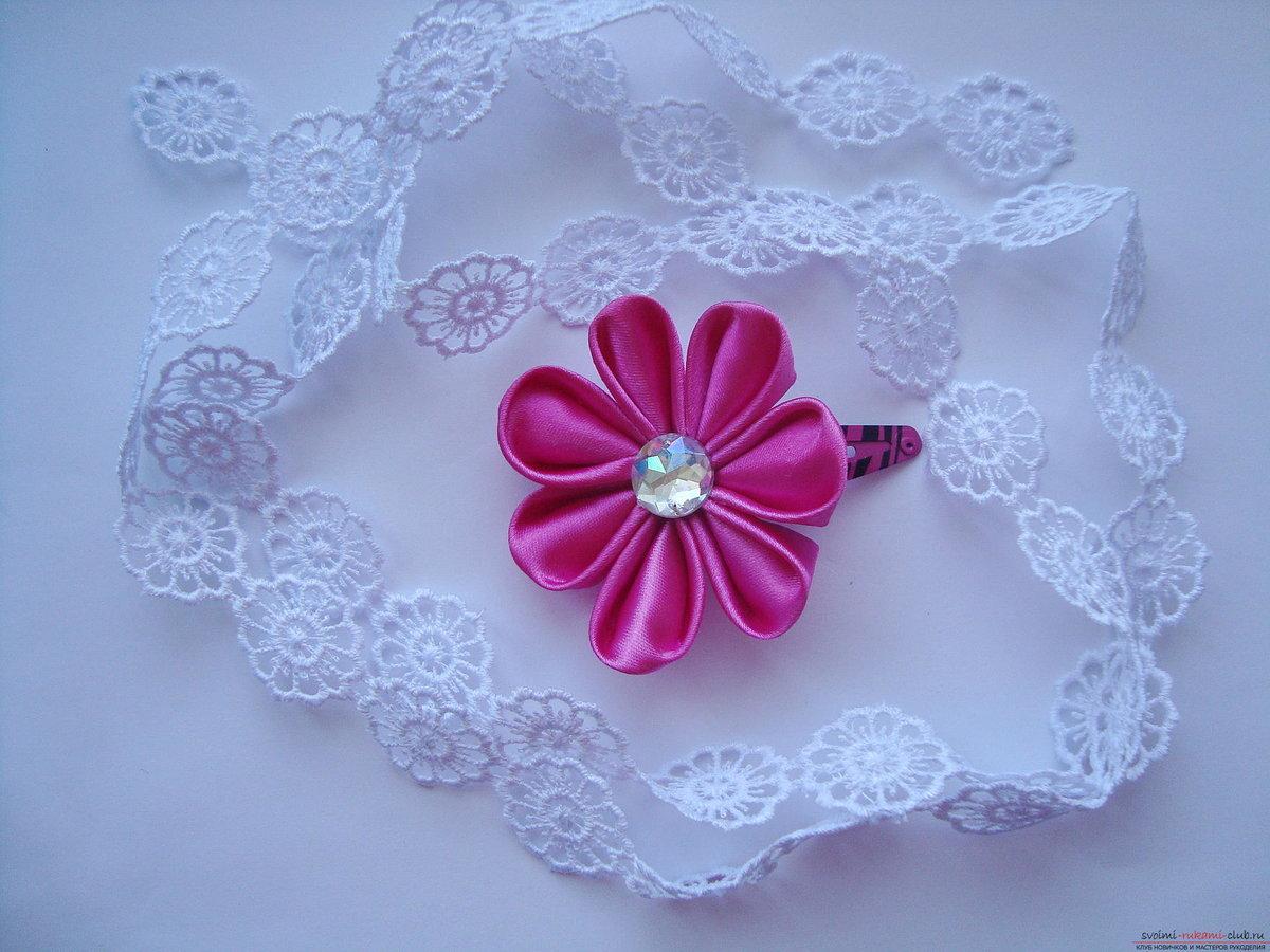 Цветы канзаши пошаговые фото