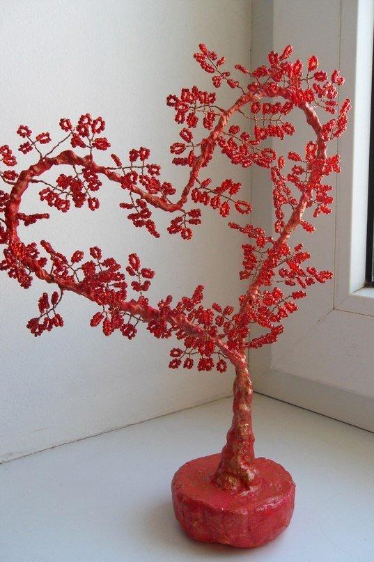 Как сделать дерево в виде сердца своими руками