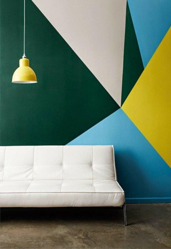 Покраска стен интерьер дизайн