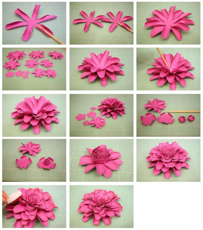 Объёмные розы из бумаги своими руками