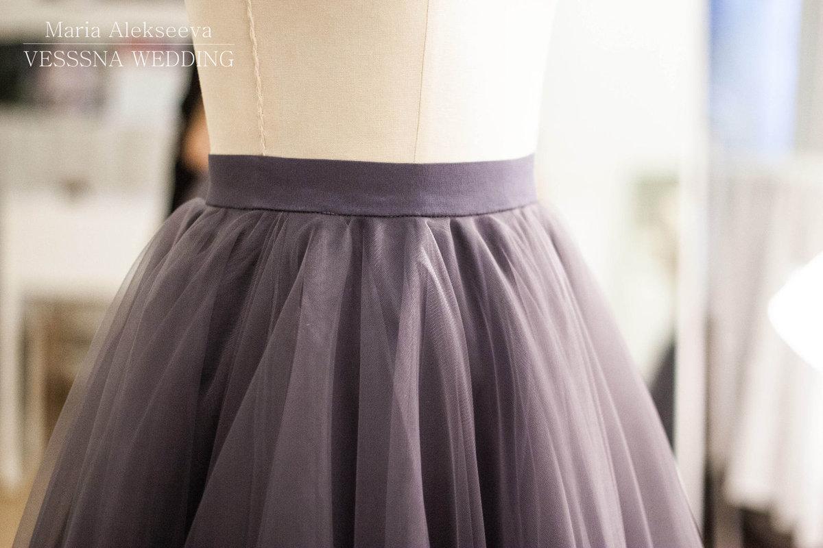 Как сшить юбку из сетки, из 82