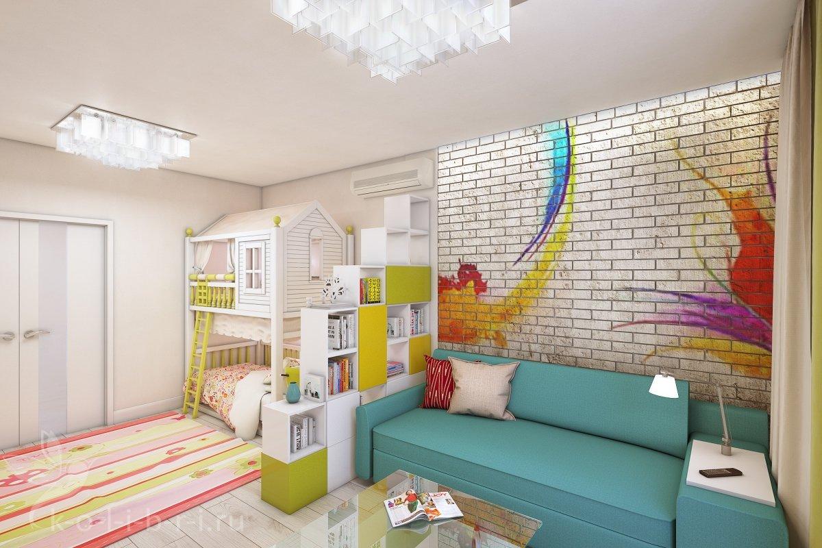 Дизайн одной комнаты с ребенком