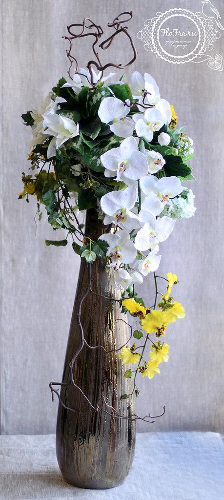 Цветы в вазе своими руками из искусственных цветов 188