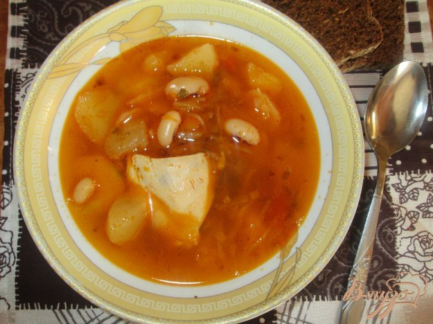 Борщ украинский с фасолью пошаговый рецепт с фото