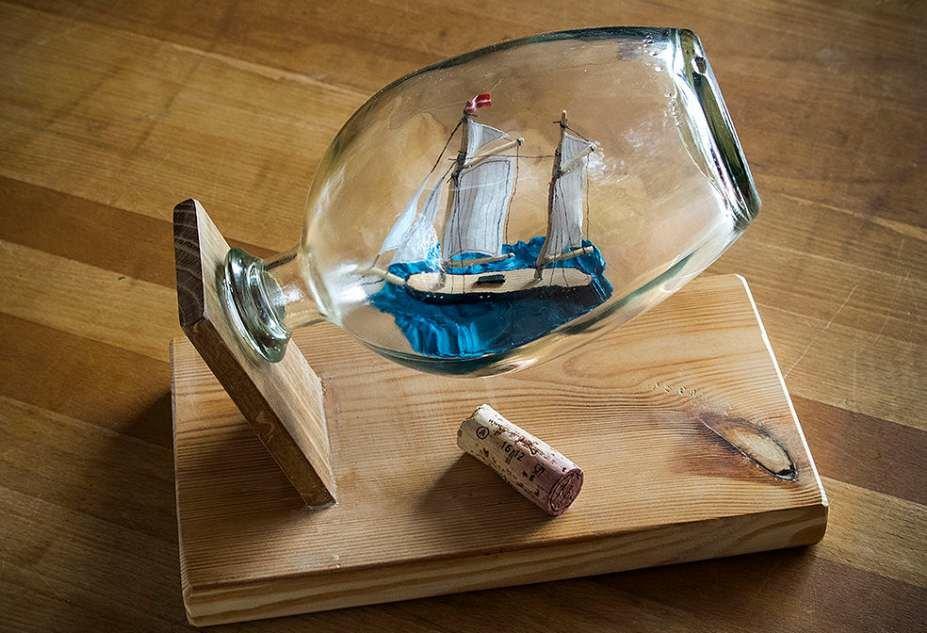 Корабль в бутылке в своими руками 659