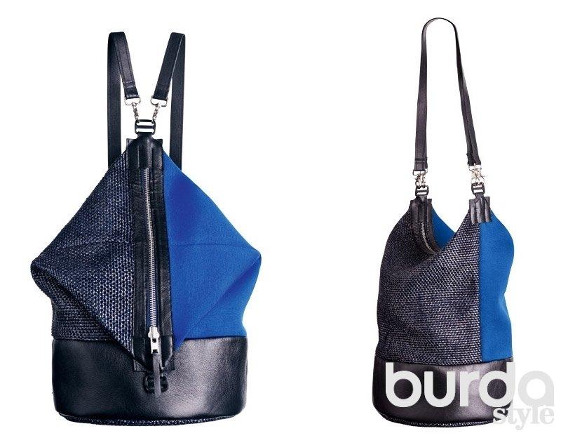 Женские сумки-рюкзаки своими руками