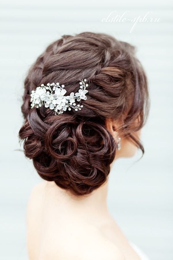 Плетение свадебные прически