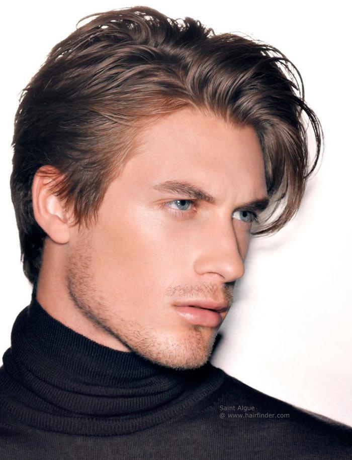 Фото причесок на средние волосы модные мужские