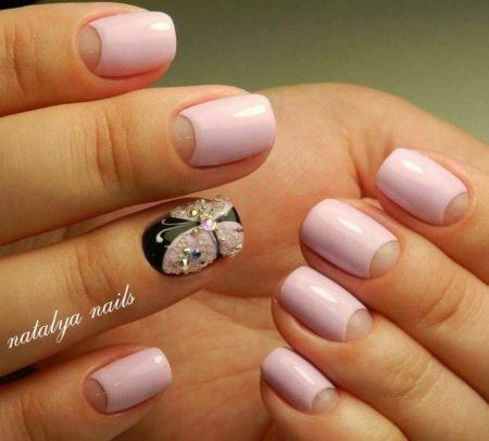Маникюр на короткие ногти дизайн 2017 гель лак розовый