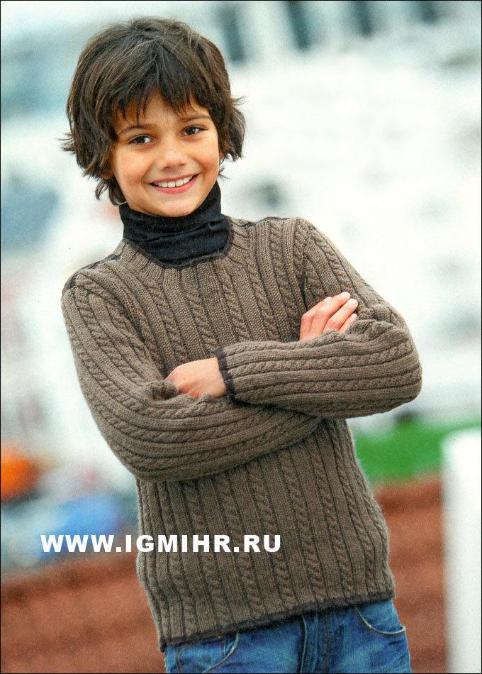 Вязание спицами кофта на мальчика 7 лет 29