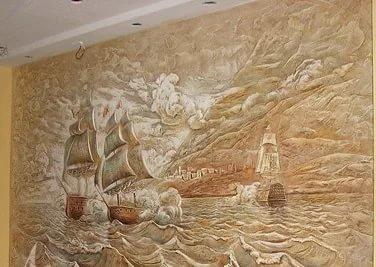 Рельефные узоры на стенах своими руками 37
