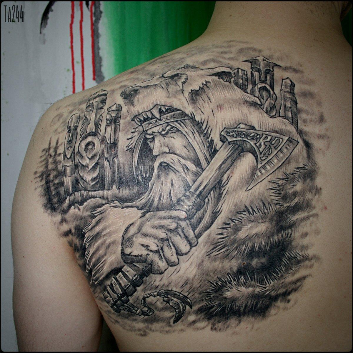 Фото тату языческих богов