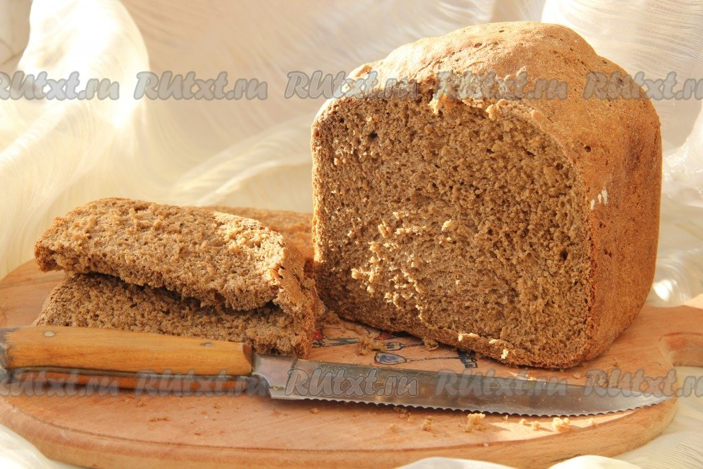 Черный хлеб в хлебопечкеы с фото