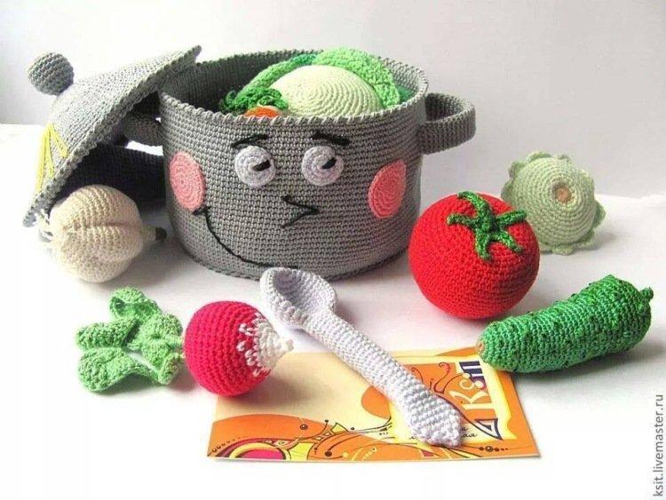 Вязаные игрушки спицами для детей своими руками 39