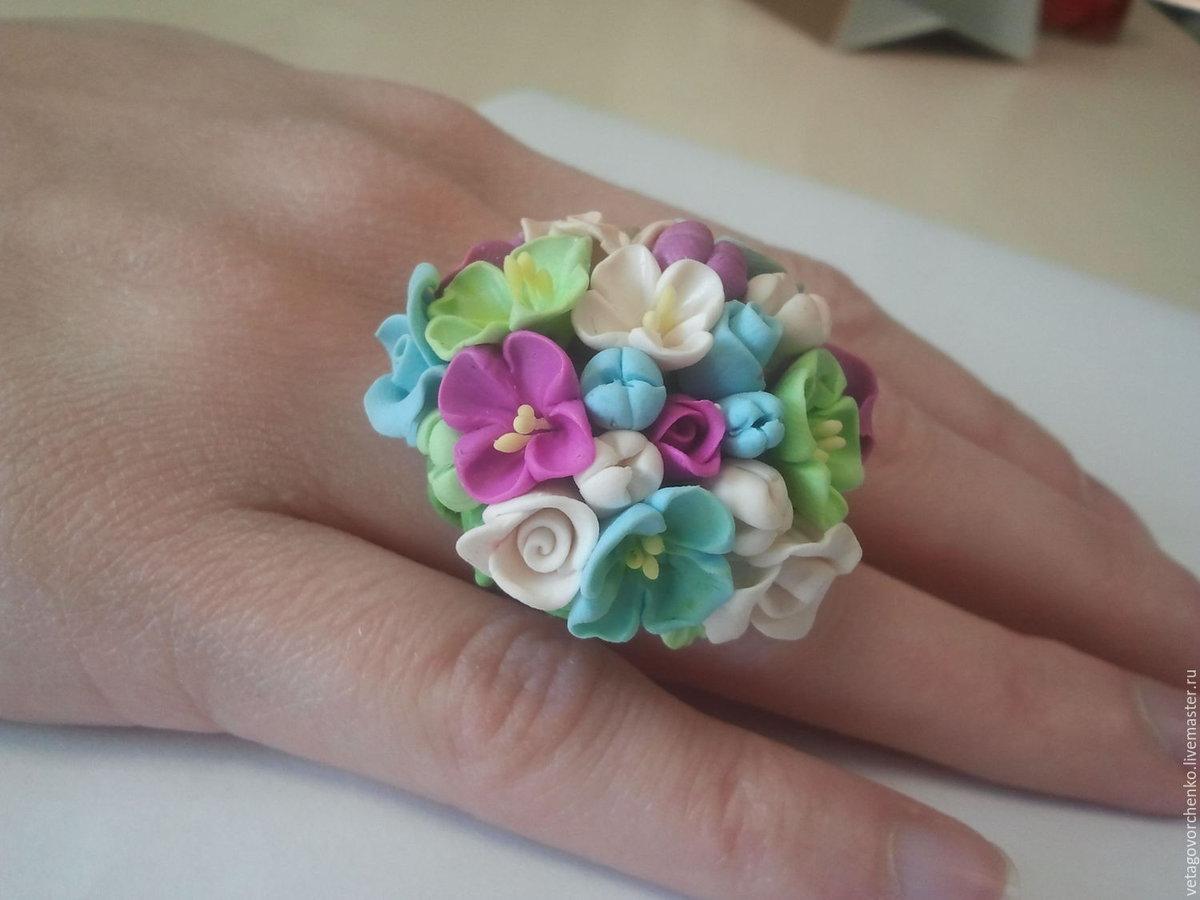 Полимерная глина фото изделий цветы