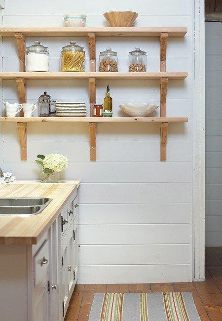 Узкие полки на кухню своими руками фото 40