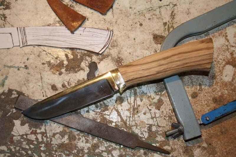 Сделать охотничий нож в домашних условиях 975