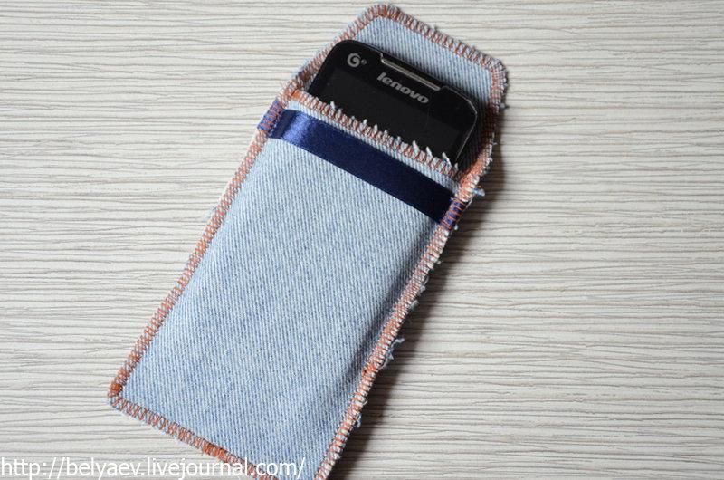 Чехол для мобильного телефона своими руками из джинса 81