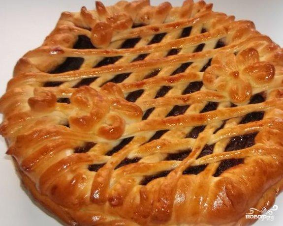 Пирог с повидлом рецепт дрожжевое тесто