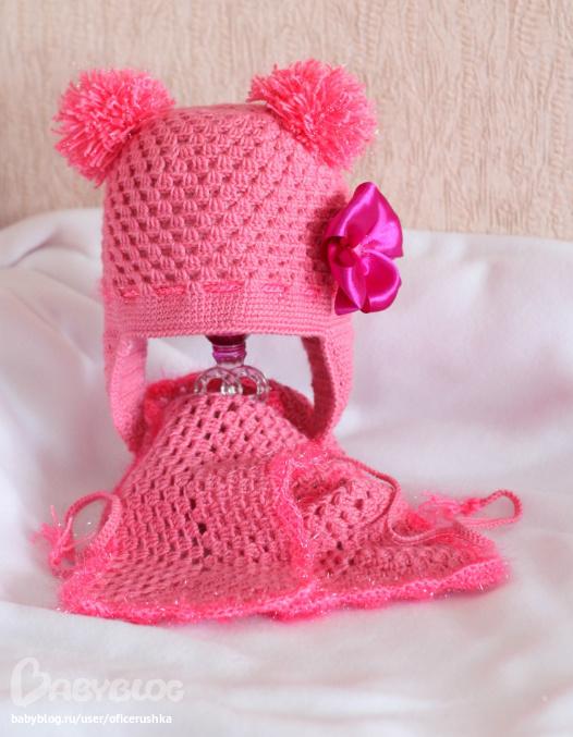 Весенняя шапочка вязание крючком