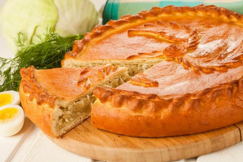 пирог с капустой рецепт с фото пошагово в духовке на кефире