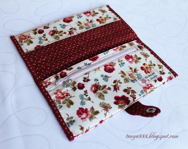 Бумажник из ткани своими руками 17