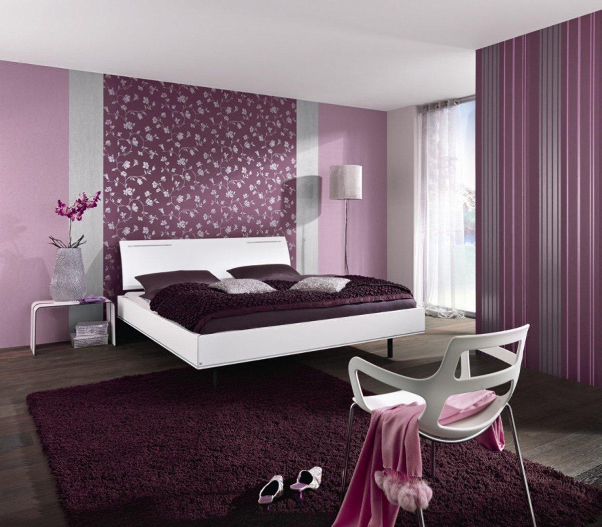 Варианты спальни двух цветов фото