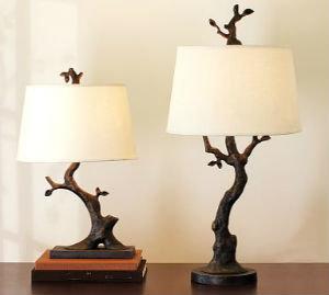 Настольная лампа своими руками из ветки