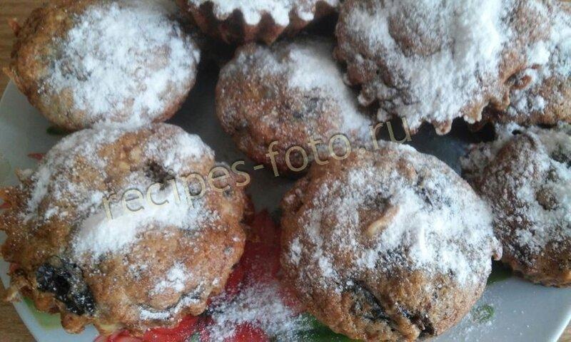 Кексы с изюмом и орехами в силиконовых формочках рецепты