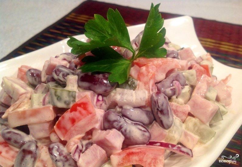 Салат из помидоров и перца фото