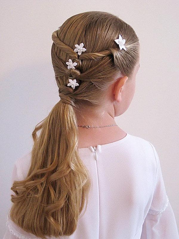 Фото причесок на длинные волосы в домашних условиях для девочки