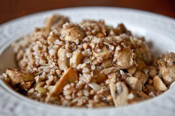 Гречка с грибами и луком рецепт с пошагово