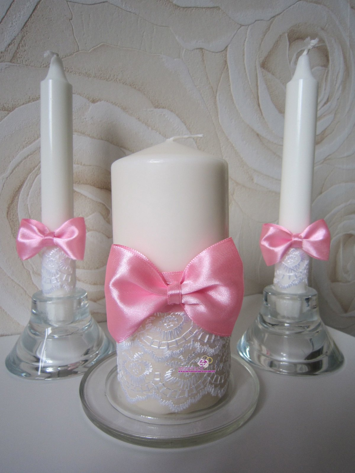 Банты на свечи своими руками