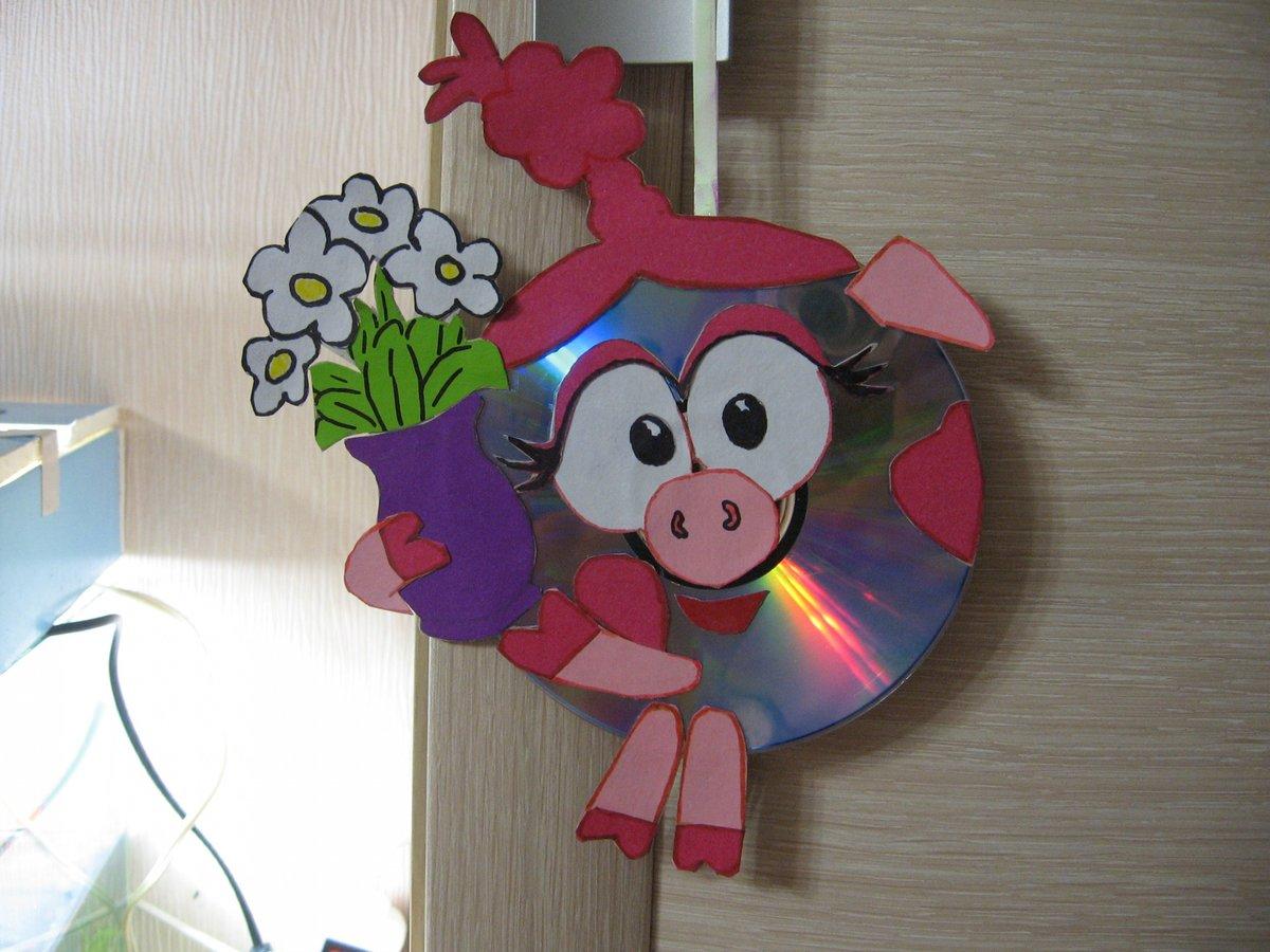 Как делать поделки из дисков своими руками и легко фото