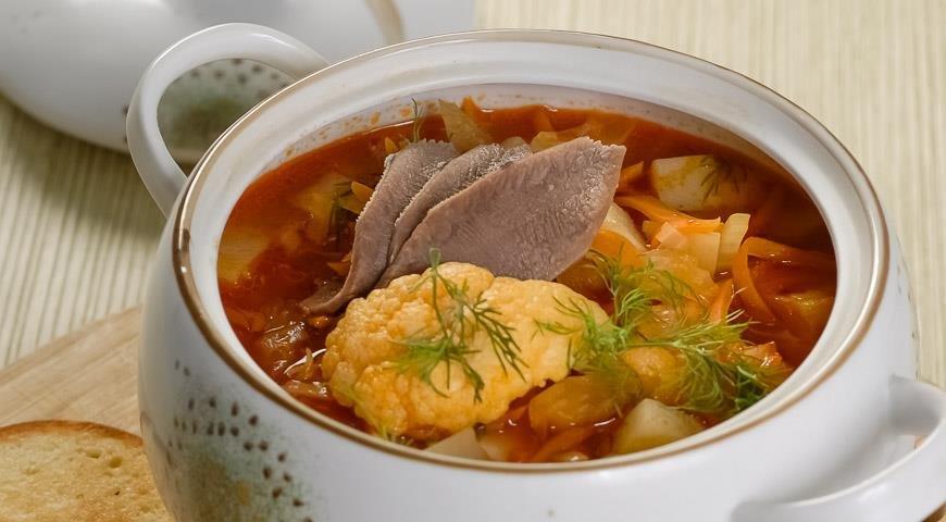 Суп из цветной фасоли рецепт