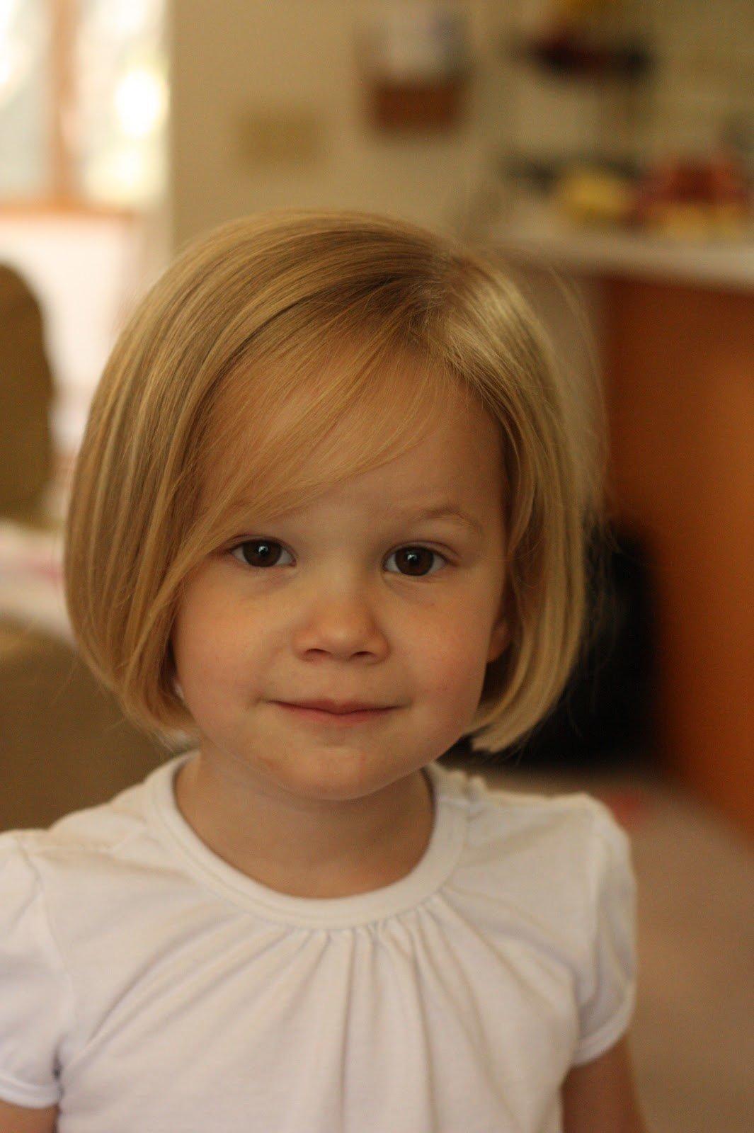 Прическа каре для девочки 3 года