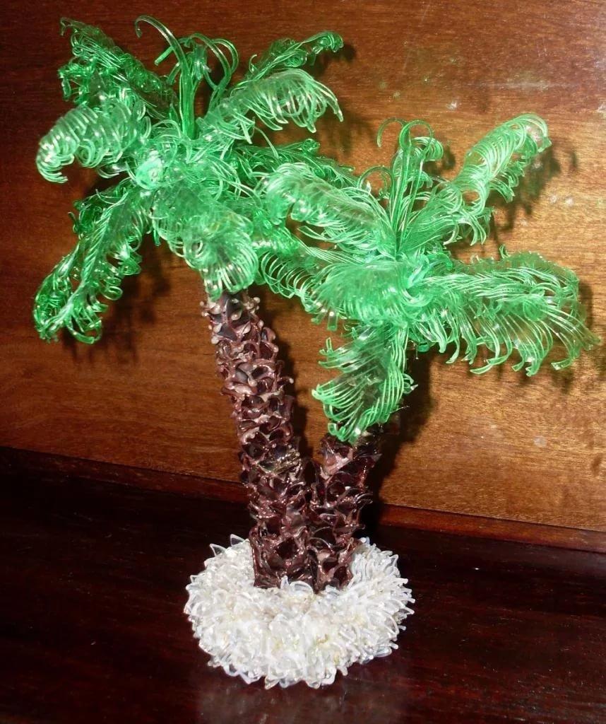 Пальма из пластика своими руками