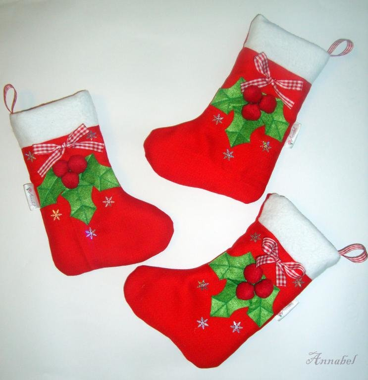 Рождественский носок своими руками