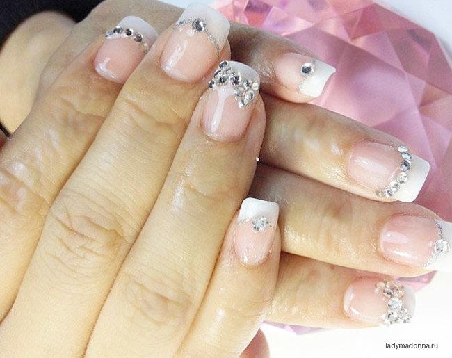 Маникюр невесты на свои ногти
