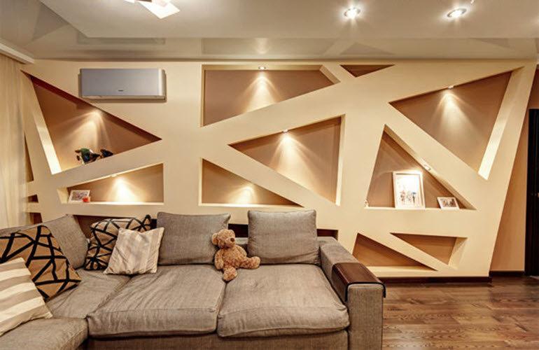 Дизайн интерьер стен ниши