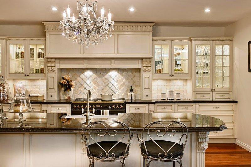 французский стиль в интерьере кухни фото