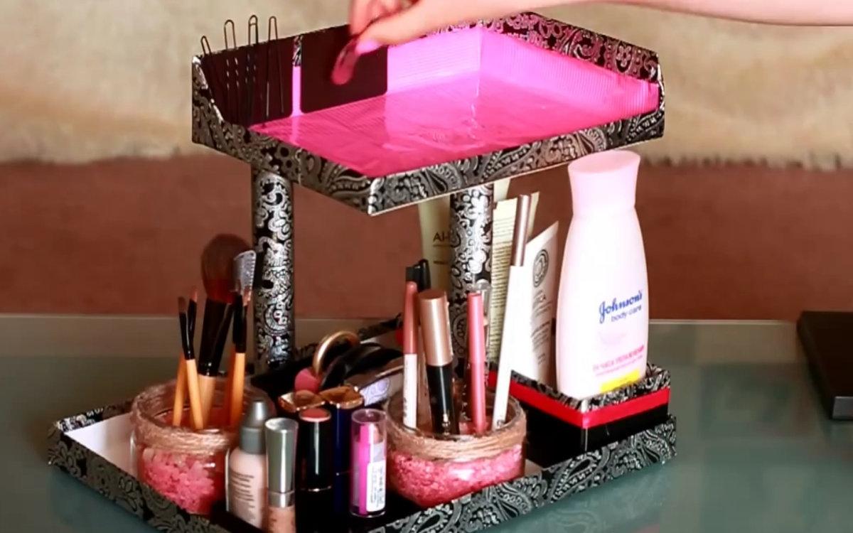 Сделать коробочку для косметики своими руками 74