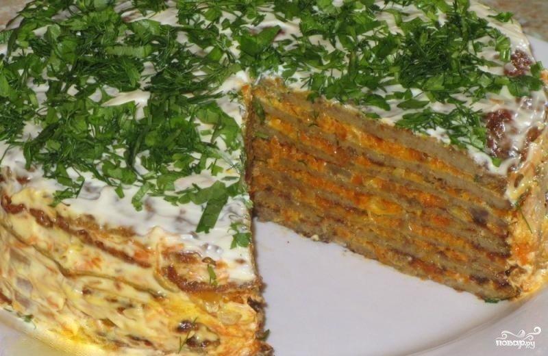Печеночный пирог рецепт с фото пошагово