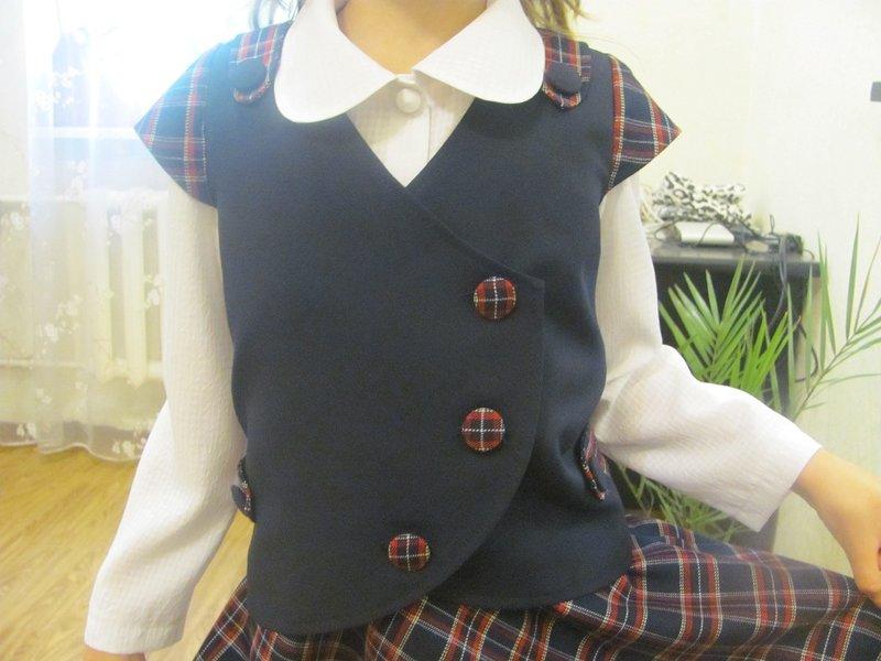 Жилет и юбка для девочки сшить своими руками