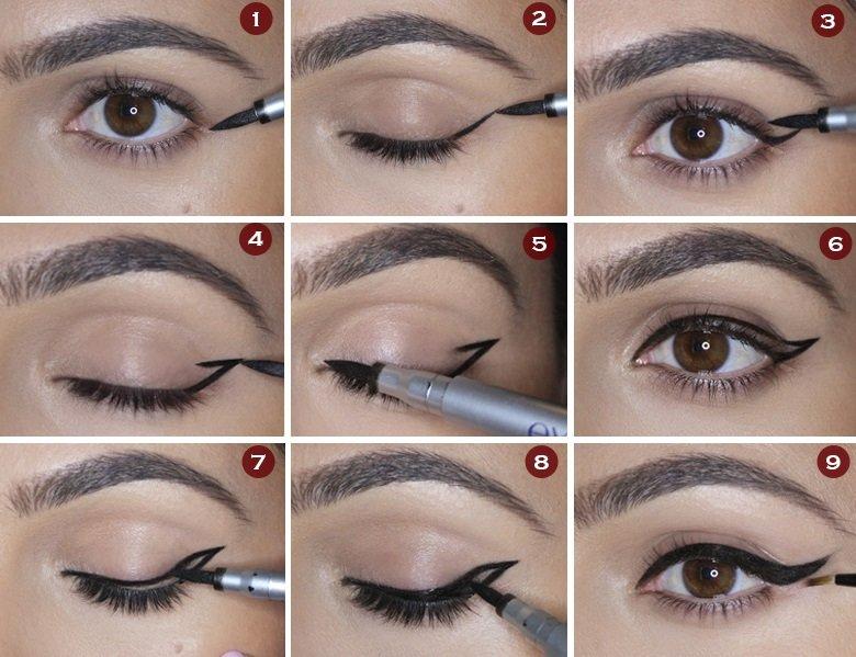 Как научиться рисовать красивую стрелку для глаз